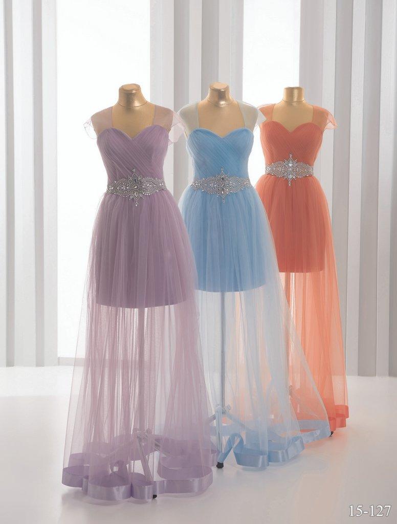 Платья в пол с прозрачной юбкой